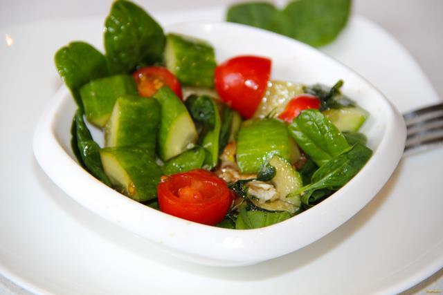 салат со шпинатом рецепт с фото очень
