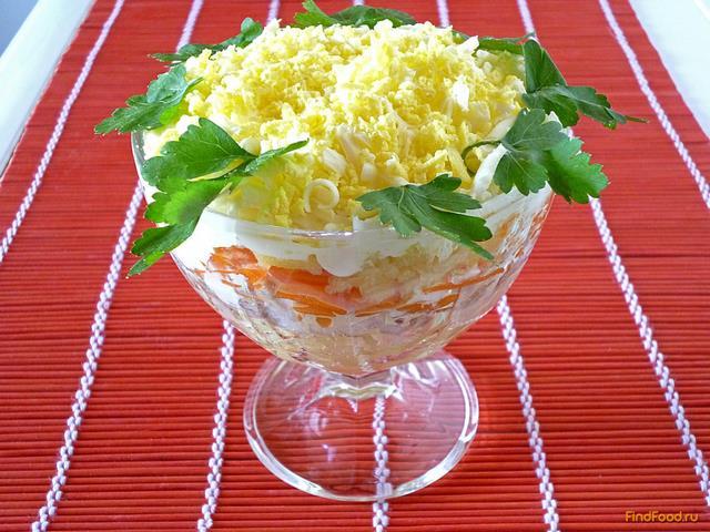 Салат «Мимоза» с сыром и сливочным маслом рецепт с фото 593