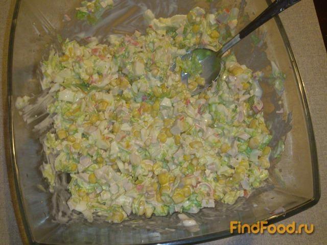 Салат из пекинской капуста и крабовых палочек калорийность