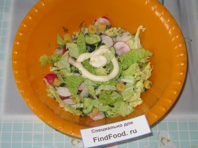 Салат из молодых початков