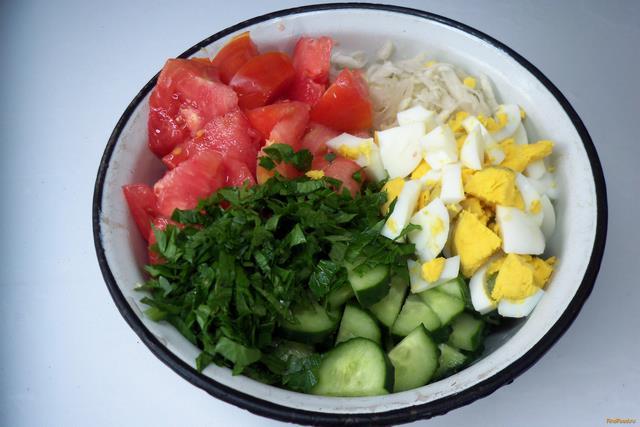 Рецепты салата со сметаной с