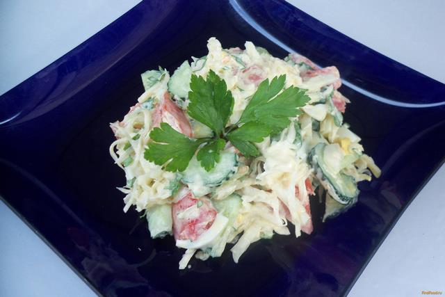 Легкие салаты со сметаной с