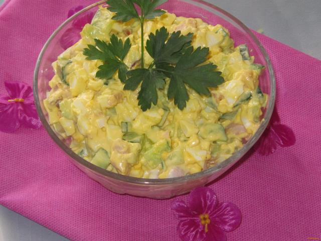салат с копченой окорочком рецепты