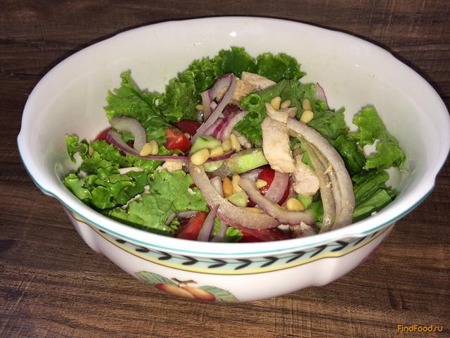 Салат из грудки куриной на новый год