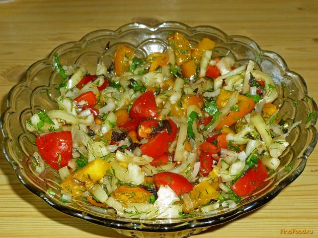 простые салаты из помидоров с фото