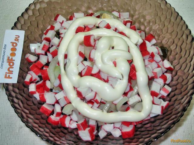 Салат из морской капусты и крабовых палочек