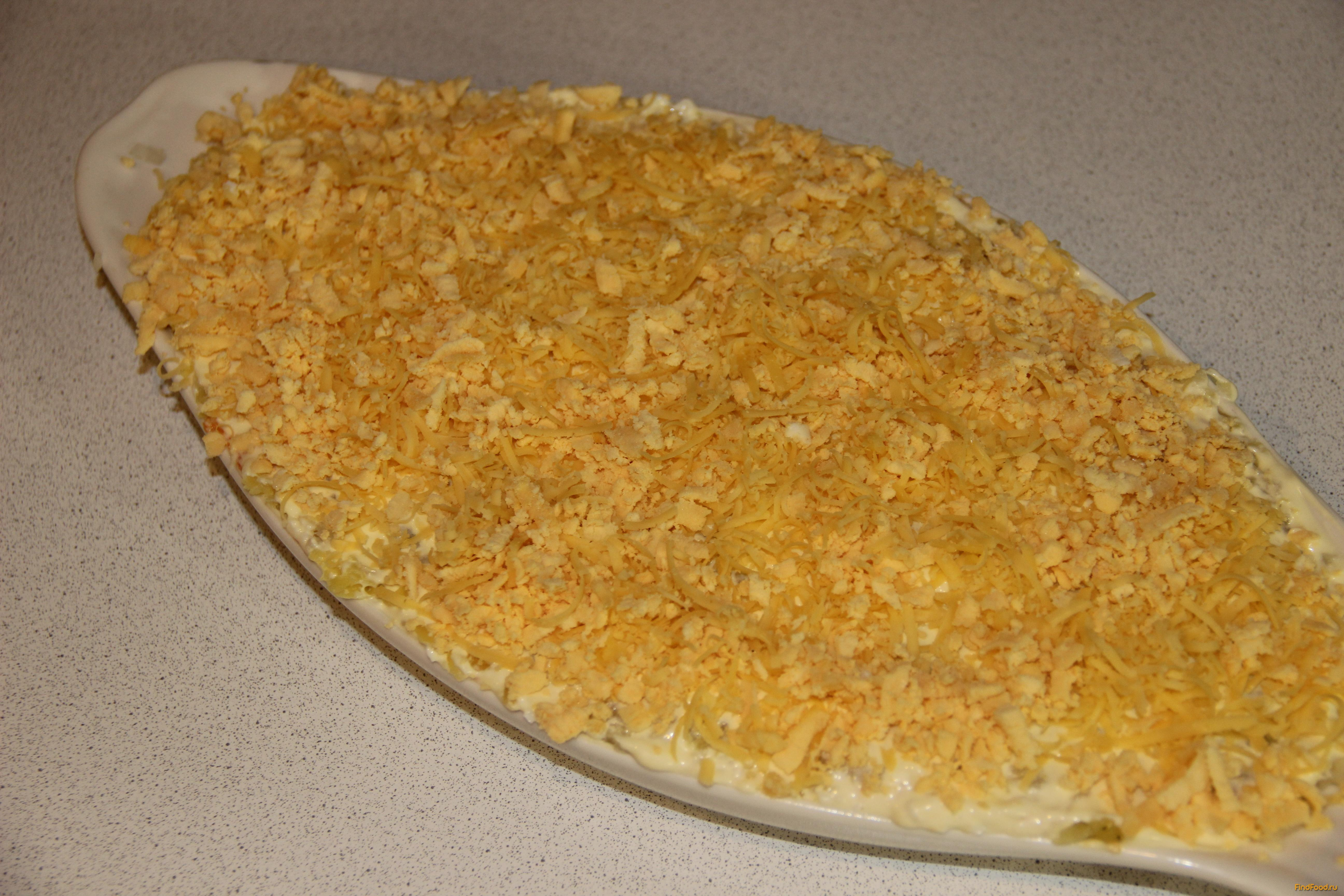 Салат мимоза с сыром пошагово
