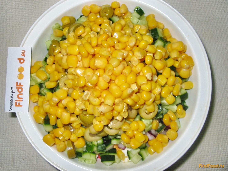 Крабовый салат с оливками рецепт с