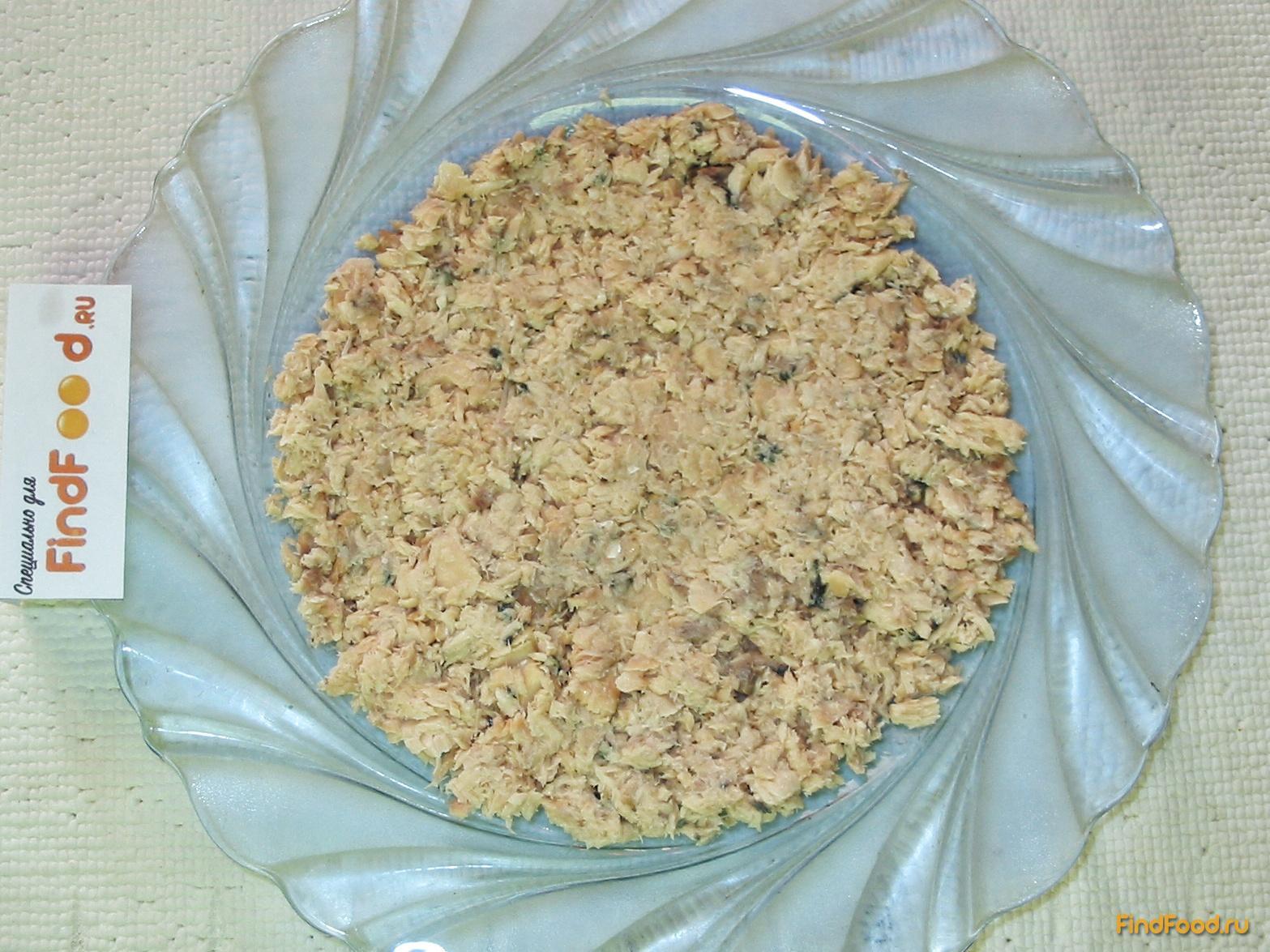 рецепт салата из горбуши с сыром