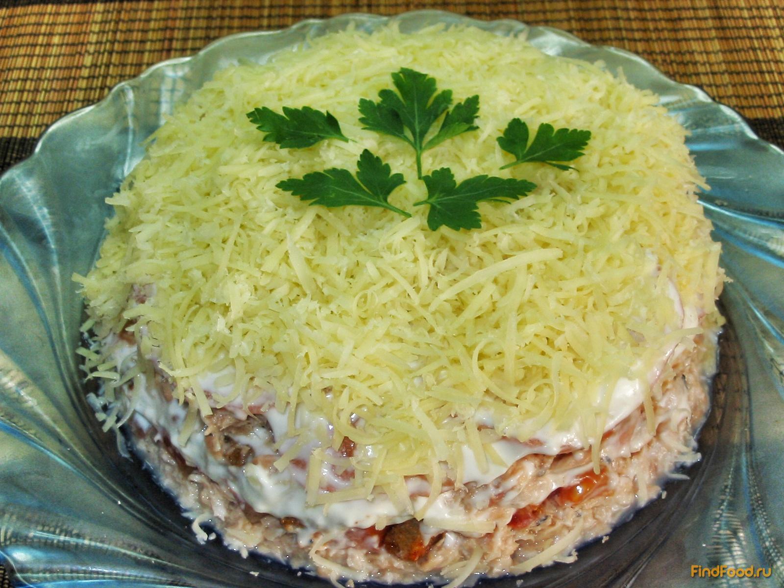 Простой салат с горбушей соленой рецепт