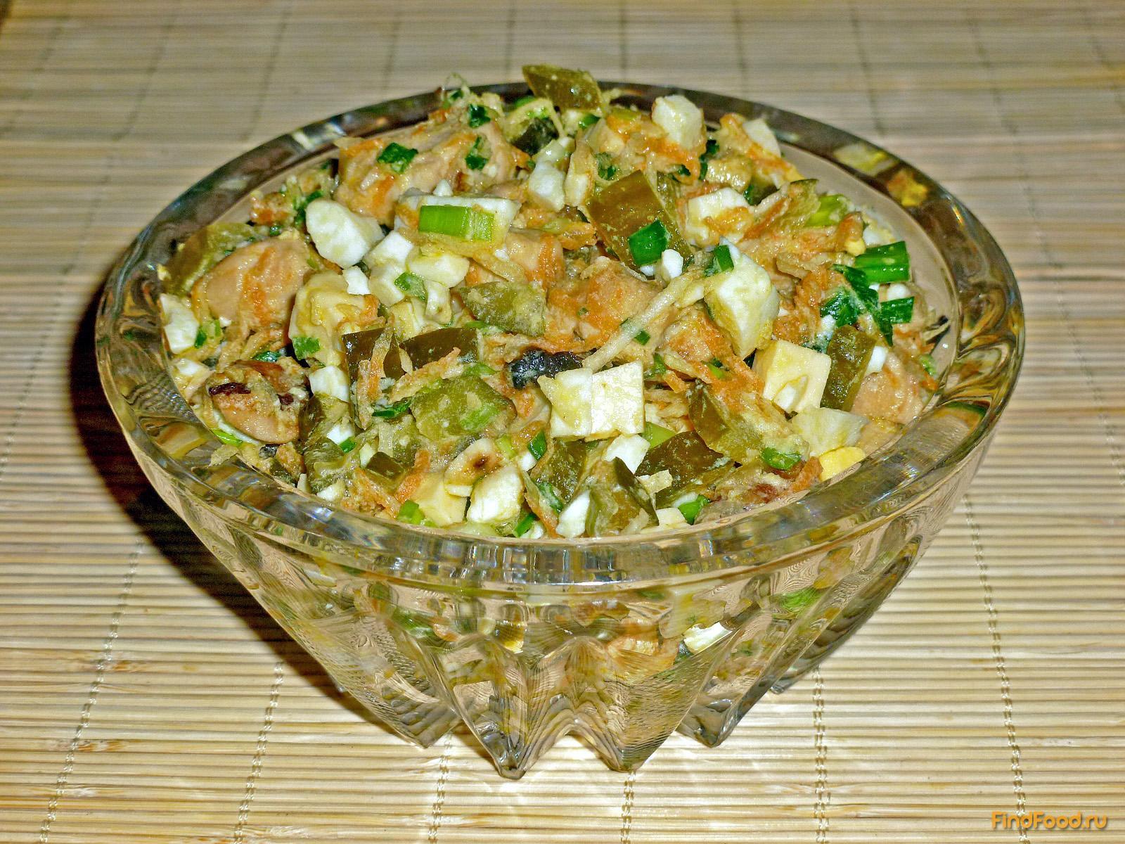 рецепт салата вкусного с куриным филе