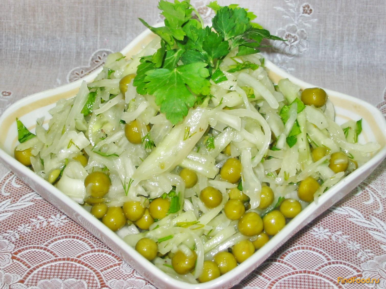 рецепты салатов на стол с зеленым горошком