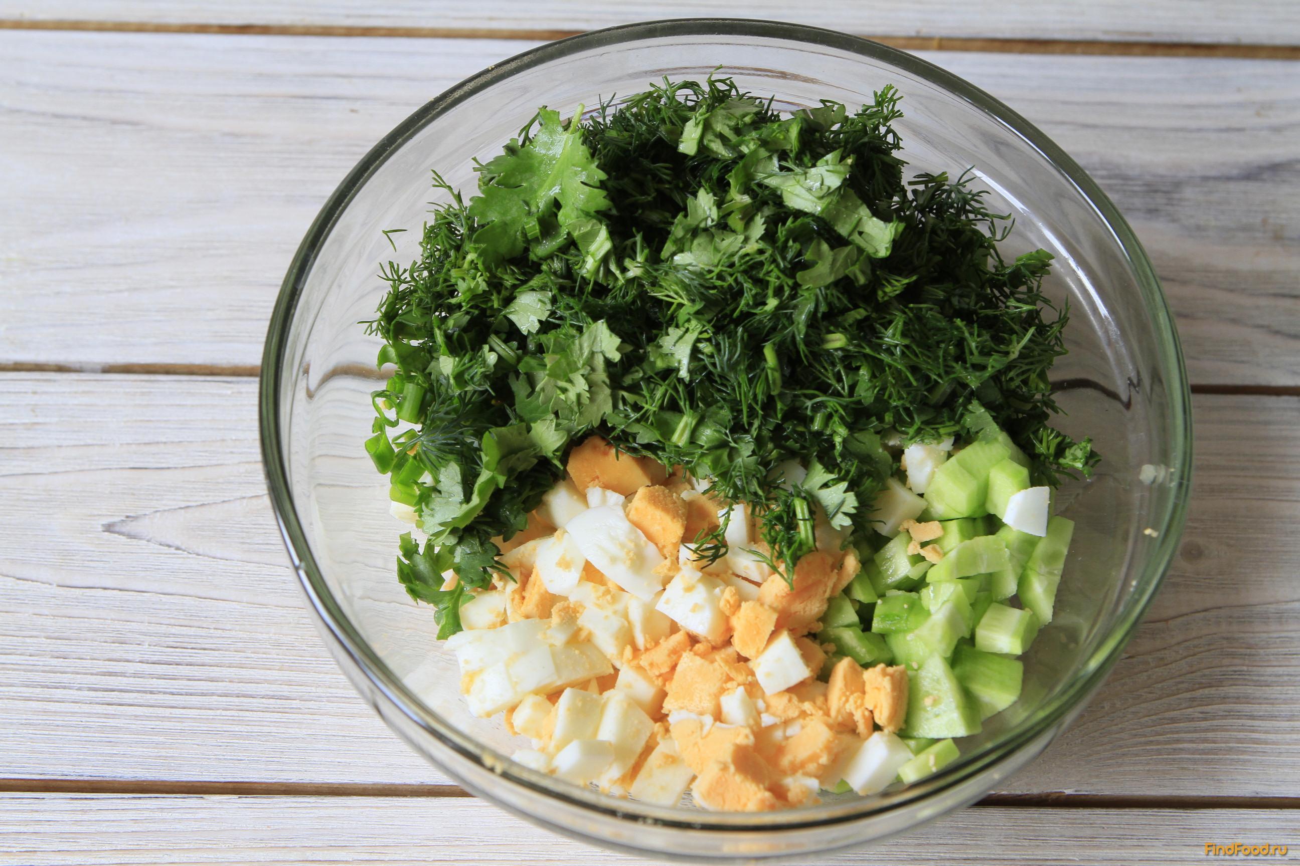 Как сделать салат из огурцов и зеленью 439