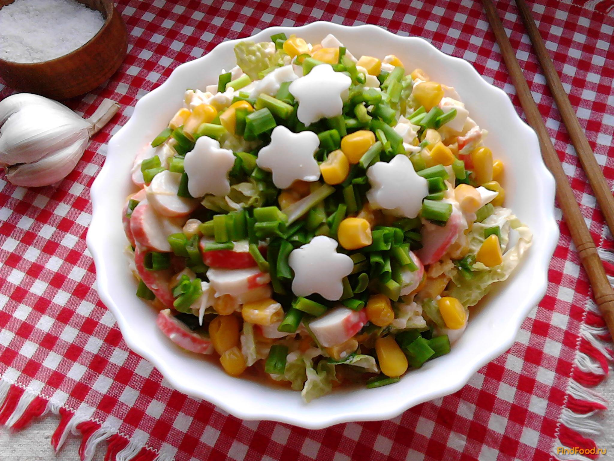 крабовый салат рецепт с указанием калорий
