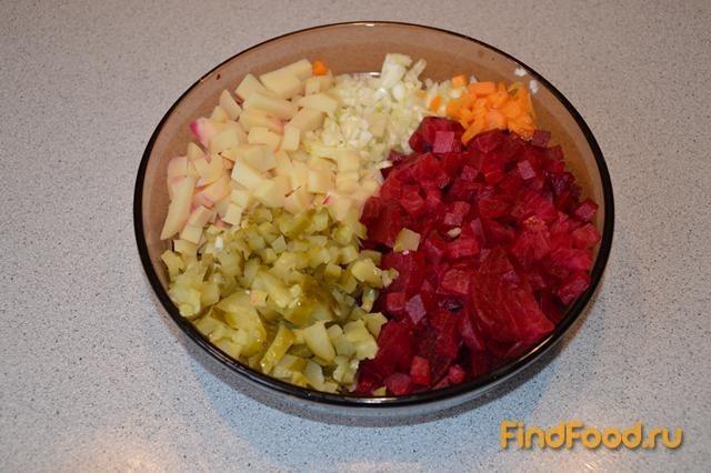 Рецепт салата винегред