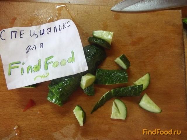 Овощной салат с кинзой рецепт с фото 2-го шага