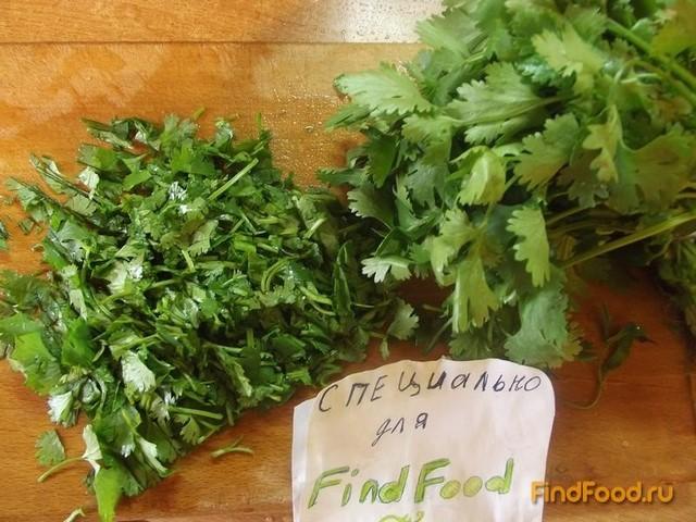 Овощной салат с кинзой рецепт с фото 6-го шага