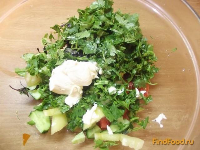 Овощной салат с кинзой рецепт с фото 7-го шага