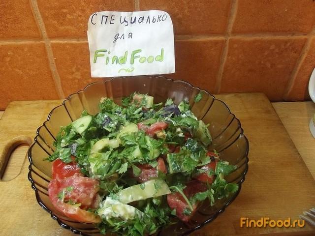 Овощной салат с кинзой рецепт с фото 8-го шага