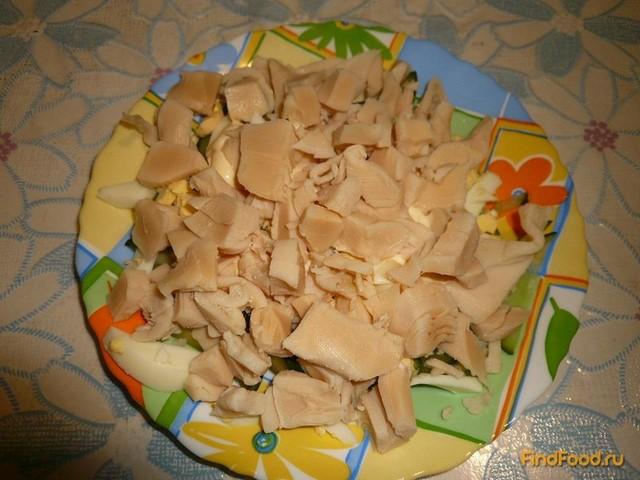 Кальмар консервированный салат рецепт пошагово