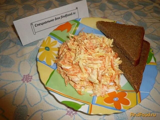 Салат из колбасного сыра и моркови рецепт с фото 4-го шага
