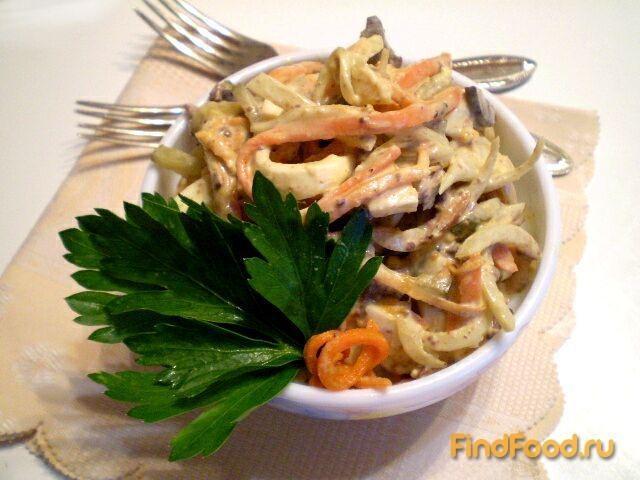 печеночный салат рецепт с фото с морковью и