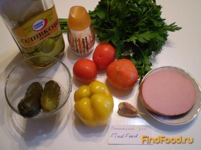 рецепт салата с солеными огурцами и с фото