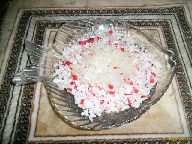 приготовление крабового салата рецепт с фото