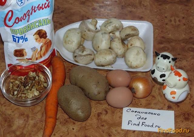 Слоеный салат с шампиньонами рецепт с фото 1-го шага