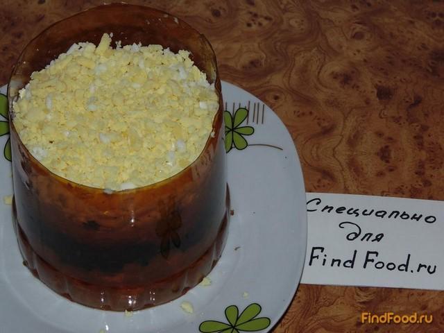 Слоеный салат с шампиньонами рецепт с фото 13-го шага