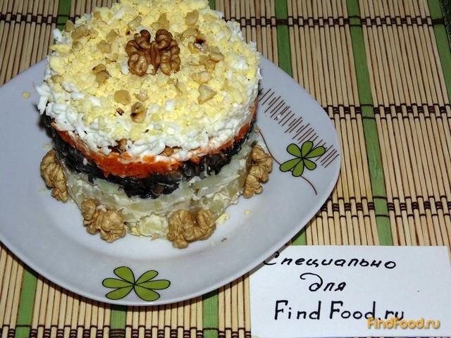Слоеный салат с шампиньонами рецепт с фото 14-го шага