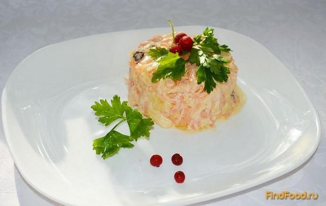 салат из тунца с сыром рецепт с фото