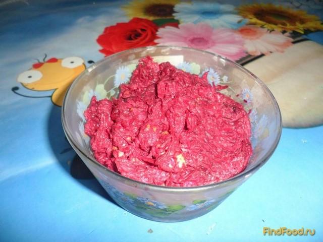Салат с свеклой и сыром плавленным