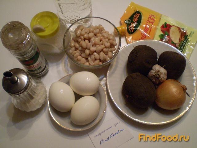 Салат из свеклы и фасоли рецепт с фото 1-го шага