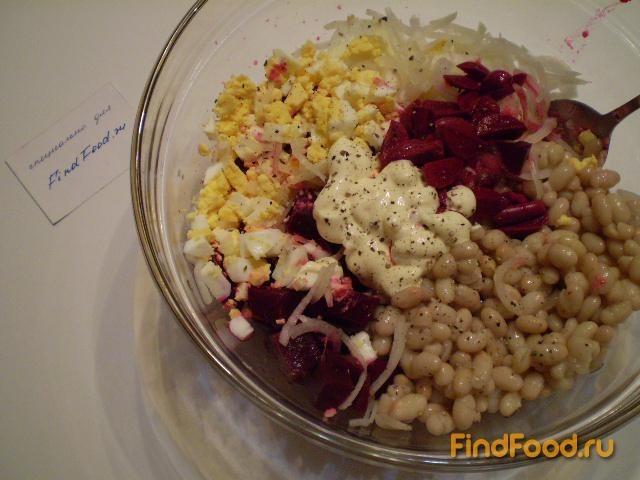 Салат из свеклы и фасоли рецепт с фото 7-го шага