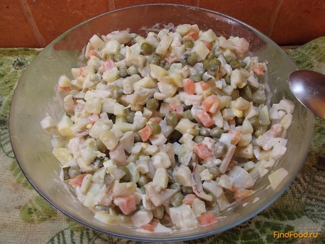 оливье с морепродуктами фото рецепт