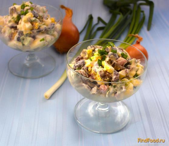 салат с фасолью с яйцом рецепт с фото