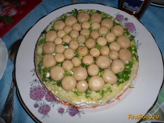 торт грибная поляна рецепт с фото