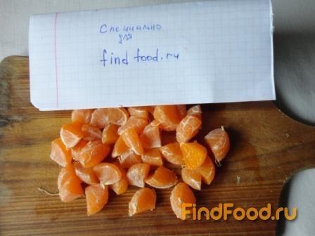 Салат из редьки с мандарином рецепт с фото 6-го шага