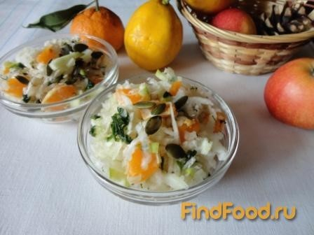 Салат из редьки с мандарином рецепт