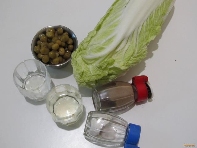 рецепт салата из огурцов и зеленого горошка