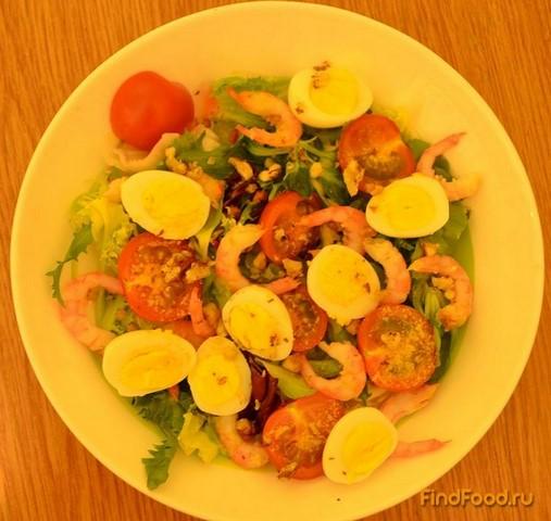 салат с креветок и перепелиных яиц рецепт