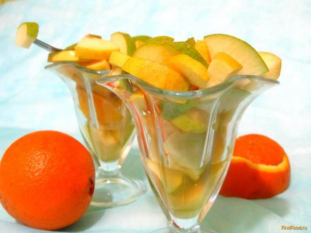 фруктовый салат с яблоками рецепт с фото