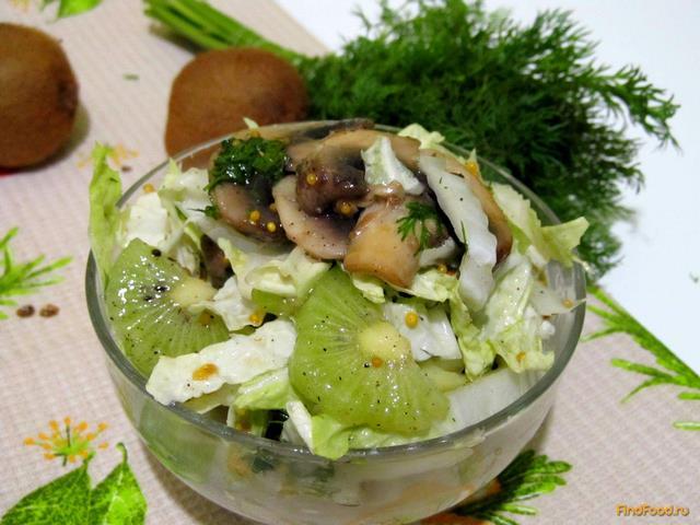 рецепты салатов с капустой и киви