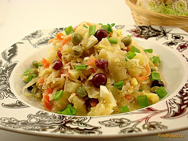 Картофель с квашеной капустой