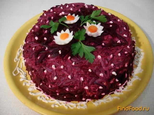 Рецепт Свекольно селёдочный торт рецепт с фото