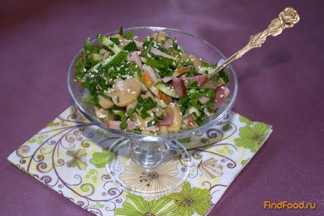 Рецепт Сочный салат с варено - копченым балычком рецепт с фото