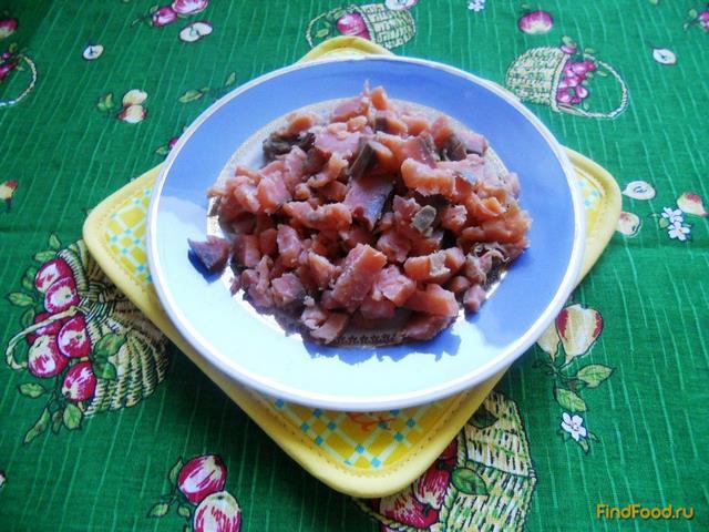 рецепт салата из копченой рыбы и риса с
