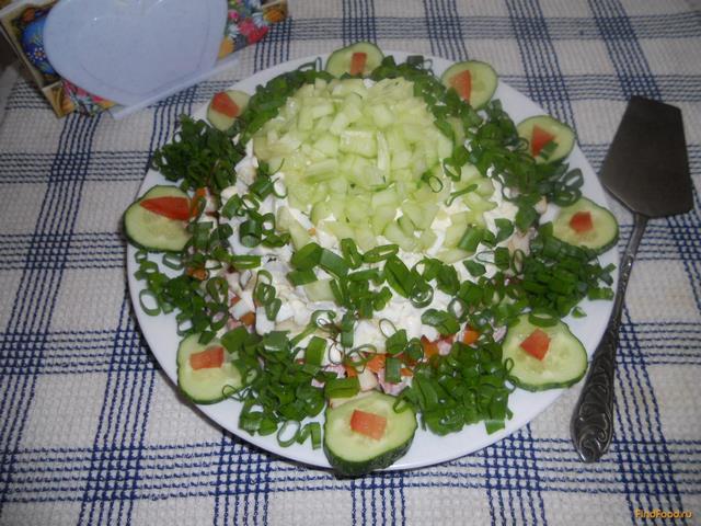 Рецепт Весенний слоеный салатик рецепт с фото