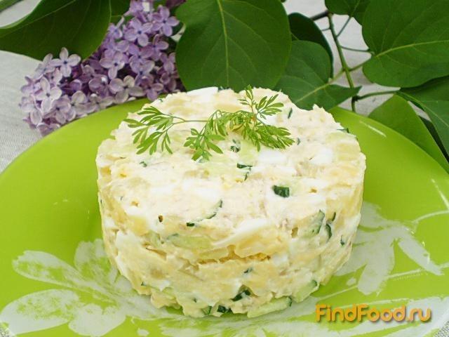 Рецепт Рыбный салат с хеком рецепт с фото